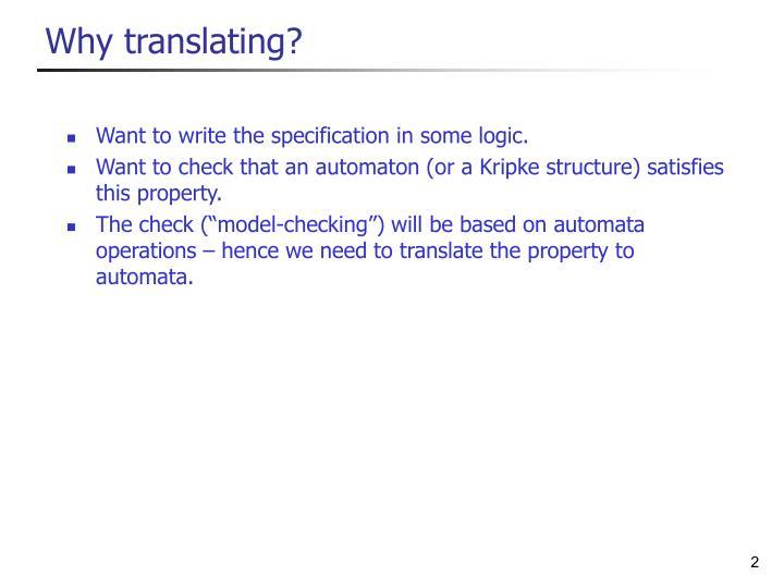 Why translating