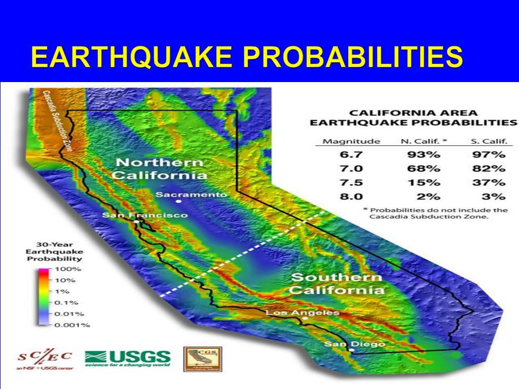 EARTHQUAKE PROBABILITIES