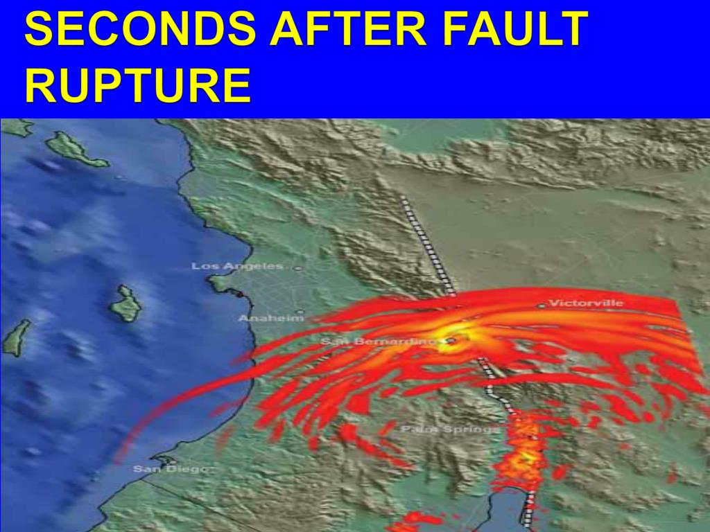 GROUND SHAKING 60 SECONDS AFTER FAULT RUPTURE