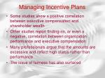 managing incentive plans58