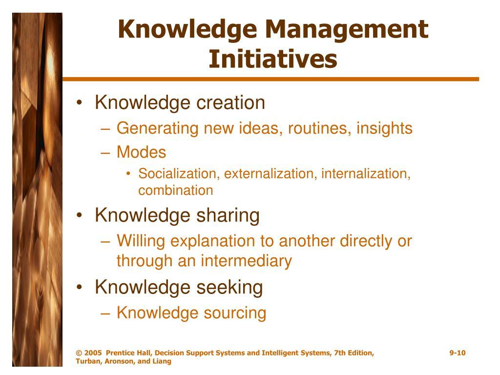 Knowledge Management Initiatives