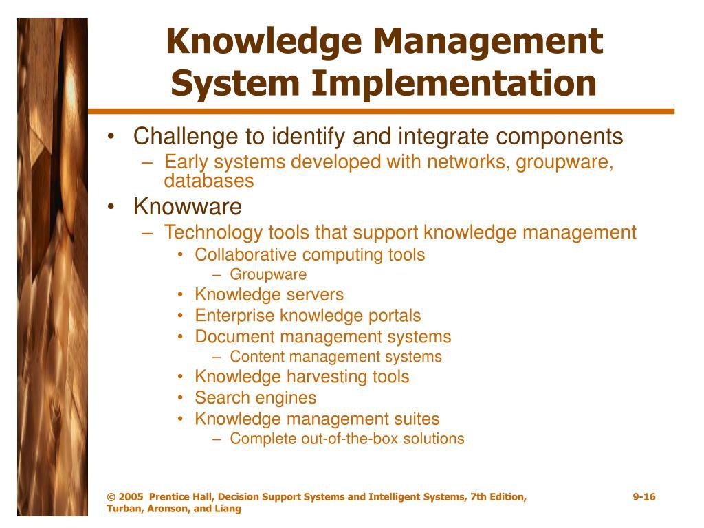 Knowledge Management System Implementation