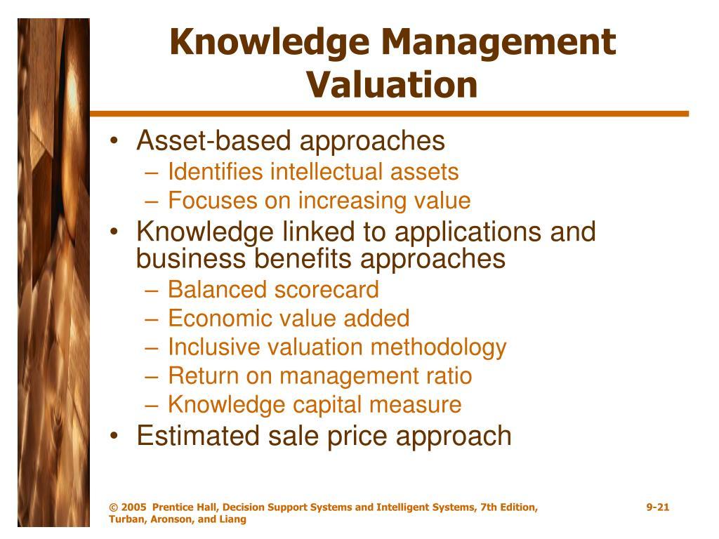 Knowledge Management Valuation