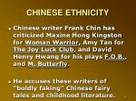 chinese ethnicity