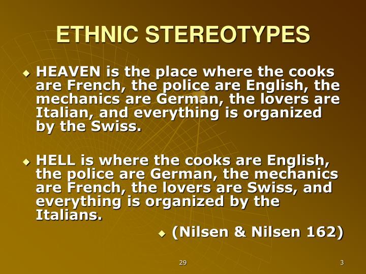 Ethnic stereotypes
