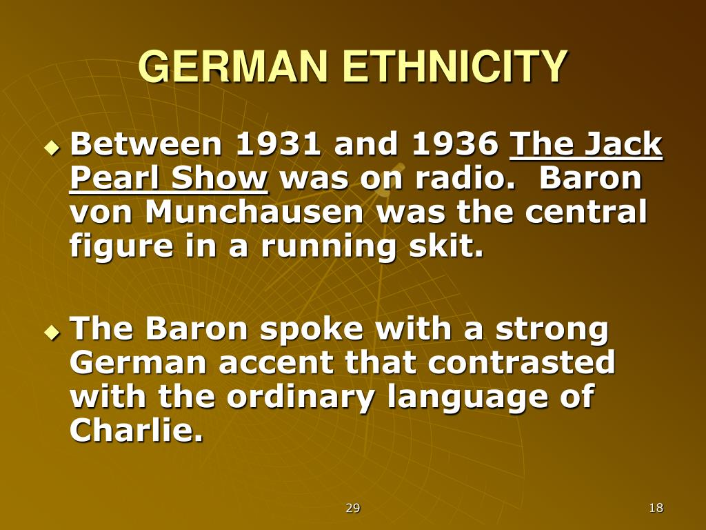 GERMAN ETHNICITY