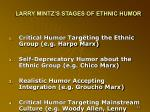 larry mintz s stages of ethnic humor