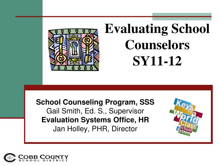 evaluating school counselors sy11 12 n.