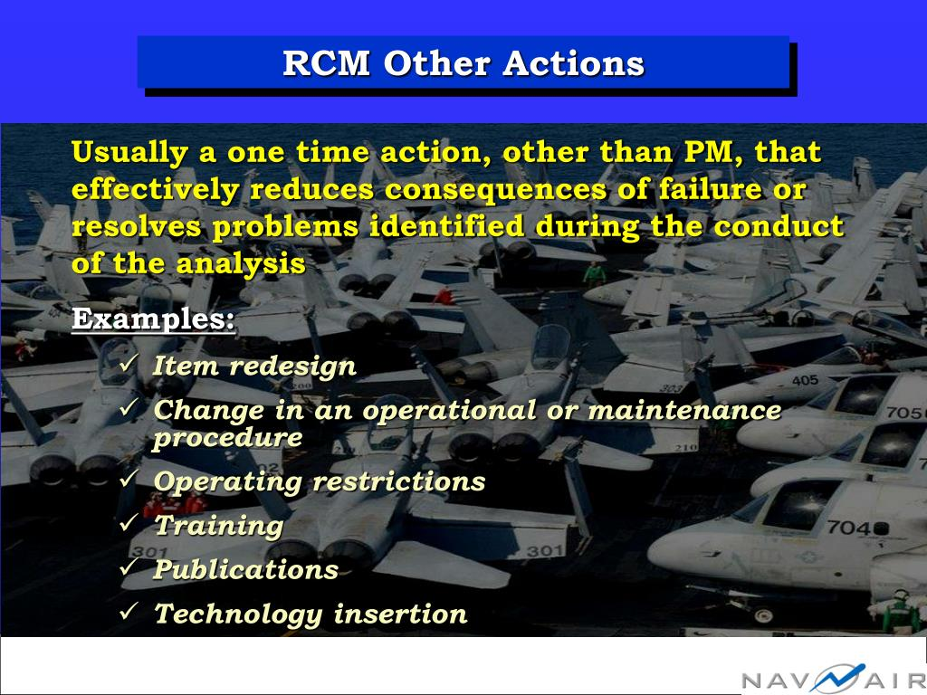 RCM Other Actions