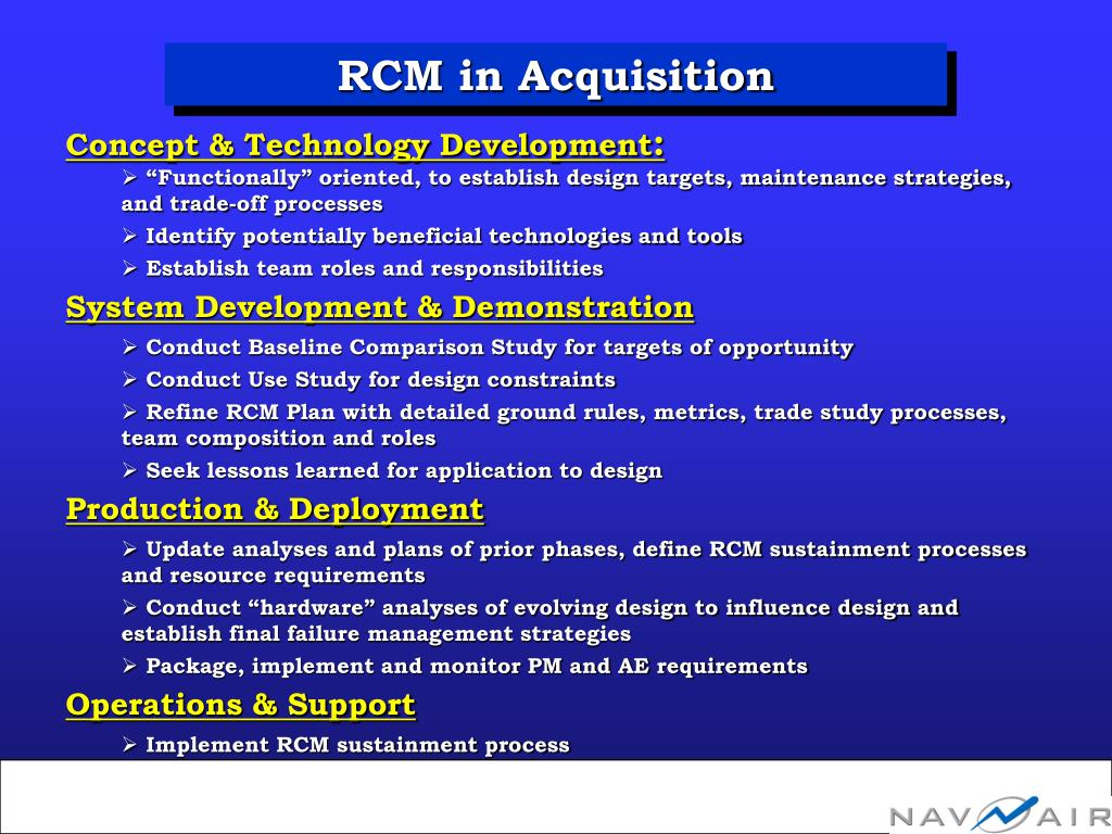 RCM in Acquisition