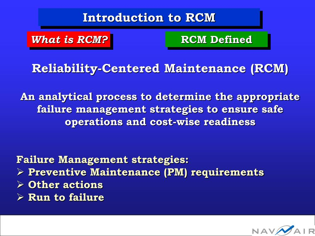 Introduction to RCM