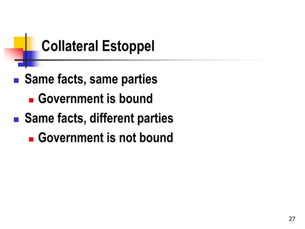 Collateral Estoppel