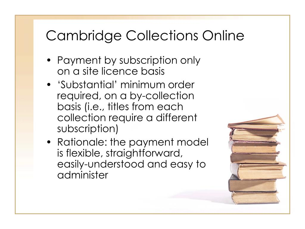 Cambridge Collections Online