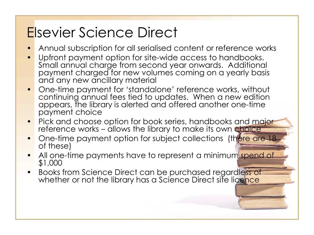Elsevier Science Direct