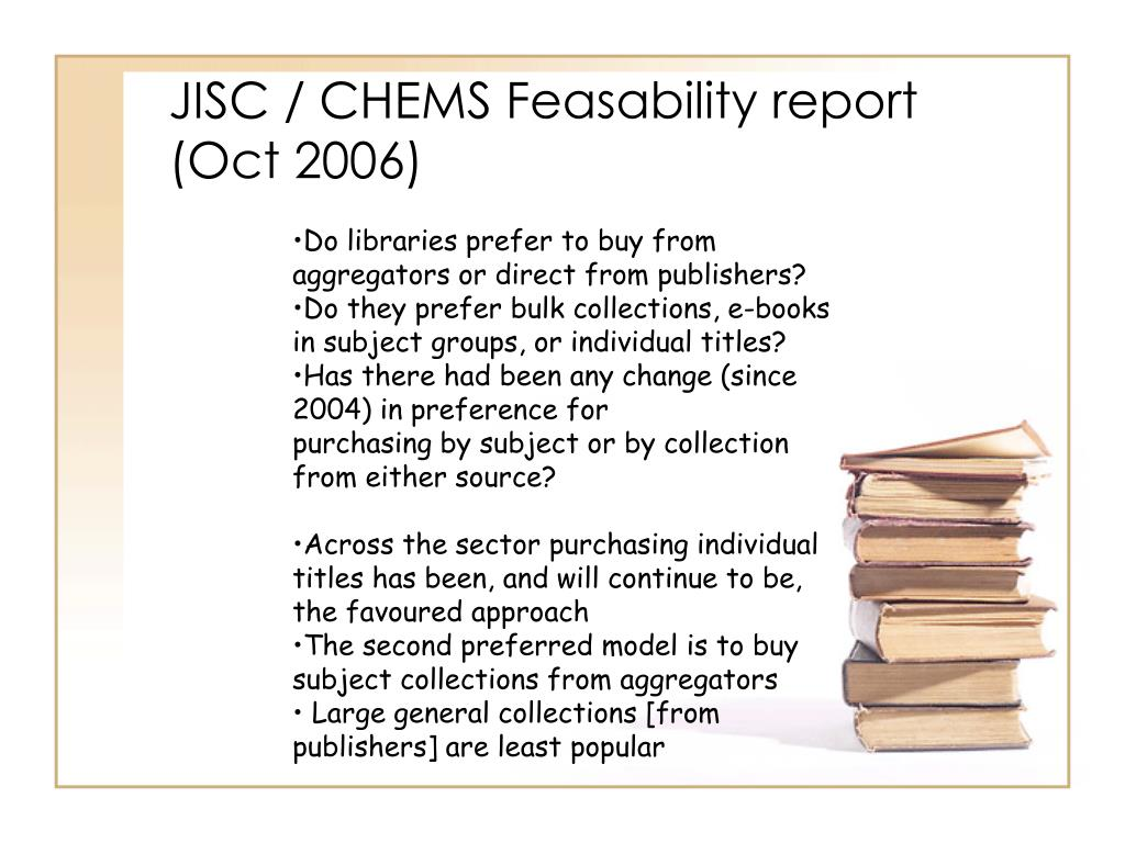 JISC / CHEMS Feasability report (Oct 2006)