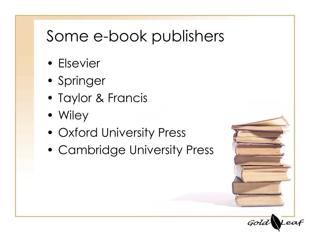 Some e-book publishers