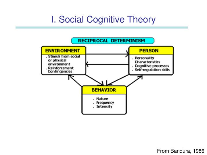 social cognitive theory on self regulation The self-system is the set of cognitive structures that involve perception, evaluation, and regulation of behavior the self-system allows us to evaluate our own behavior in terms of previous experience and anticipated future consequences.