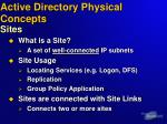 active directory physical concepts sites