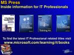 ms press inside information for it professionals