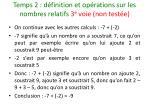temps 2 d finition et op rations sur les nombres relatifs 3 e voie non test e25