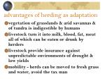 advantages of herding as adaptation