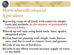horticulture ecological agriculture