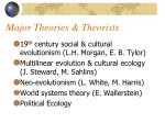 major theories theorists
