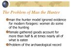 the problem of man the hunter