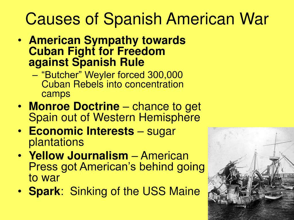 essays on spanish american war Spanish-american war (1898) after 1895 americans were largely unsympathetic to spain 's attempt to subdue cuban rebels relations between the two countries steadily worsened with the sinking of the us battleship maine , an insulting letter from the spanish minister dupuy de lôme, and a warmongering american press.