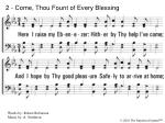 2 come thou fount of every blessing