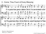 3 come thou fount of every blessing