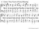 3 come thou fount of every blessing6