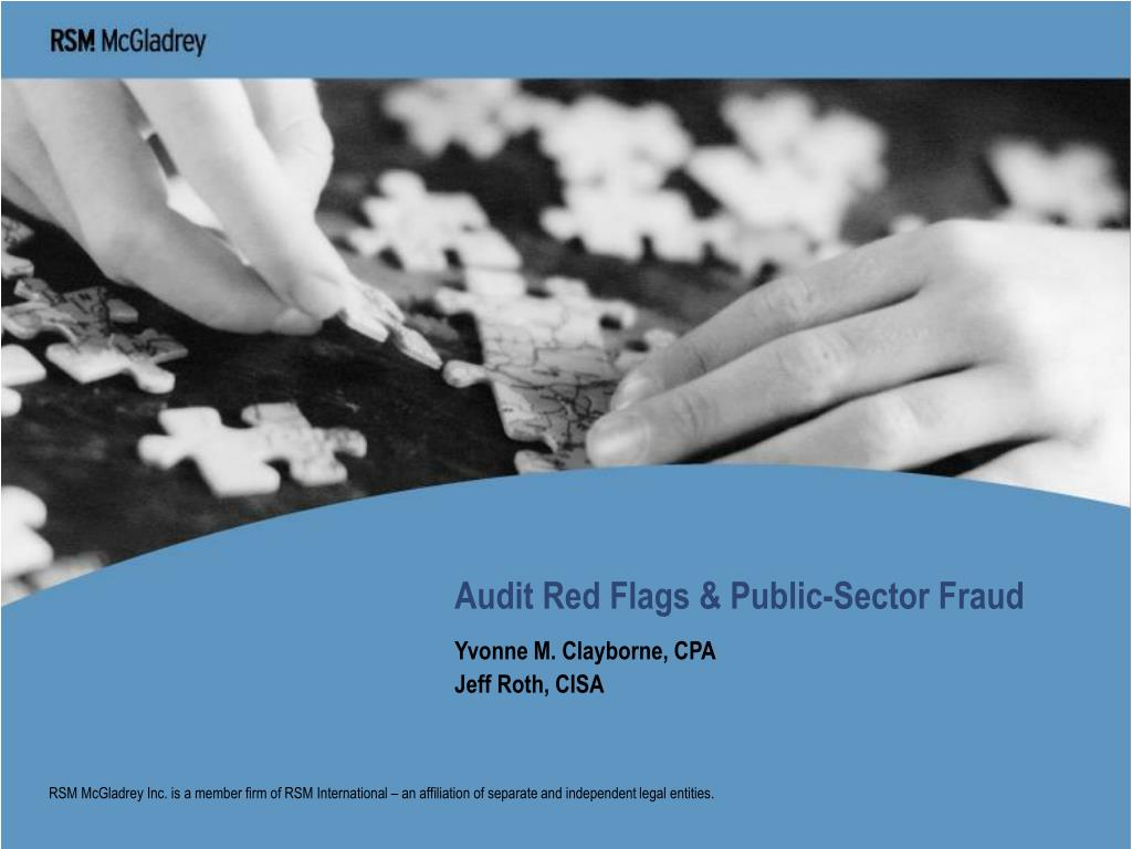 audit red flags public sector fraud l.