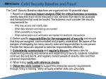 cobit security baseline and fraud