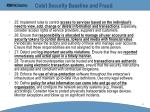 cobit security baseline and fraud44