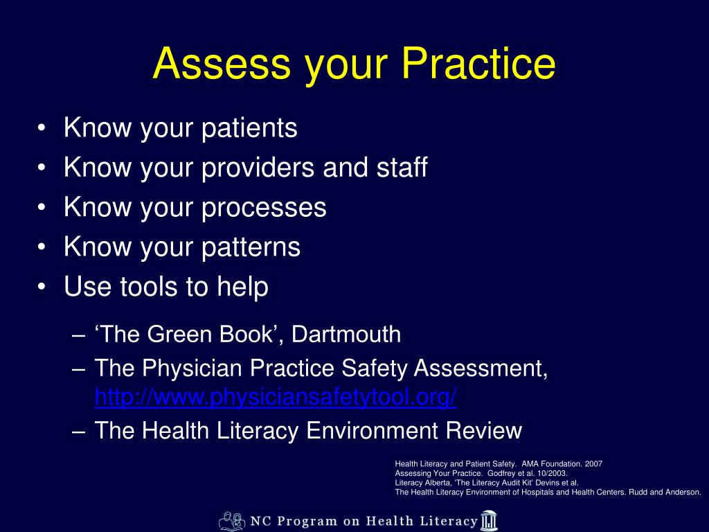 Assess your Practice