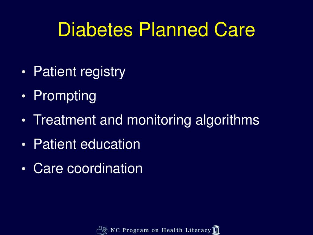 Diabetes Planned Care