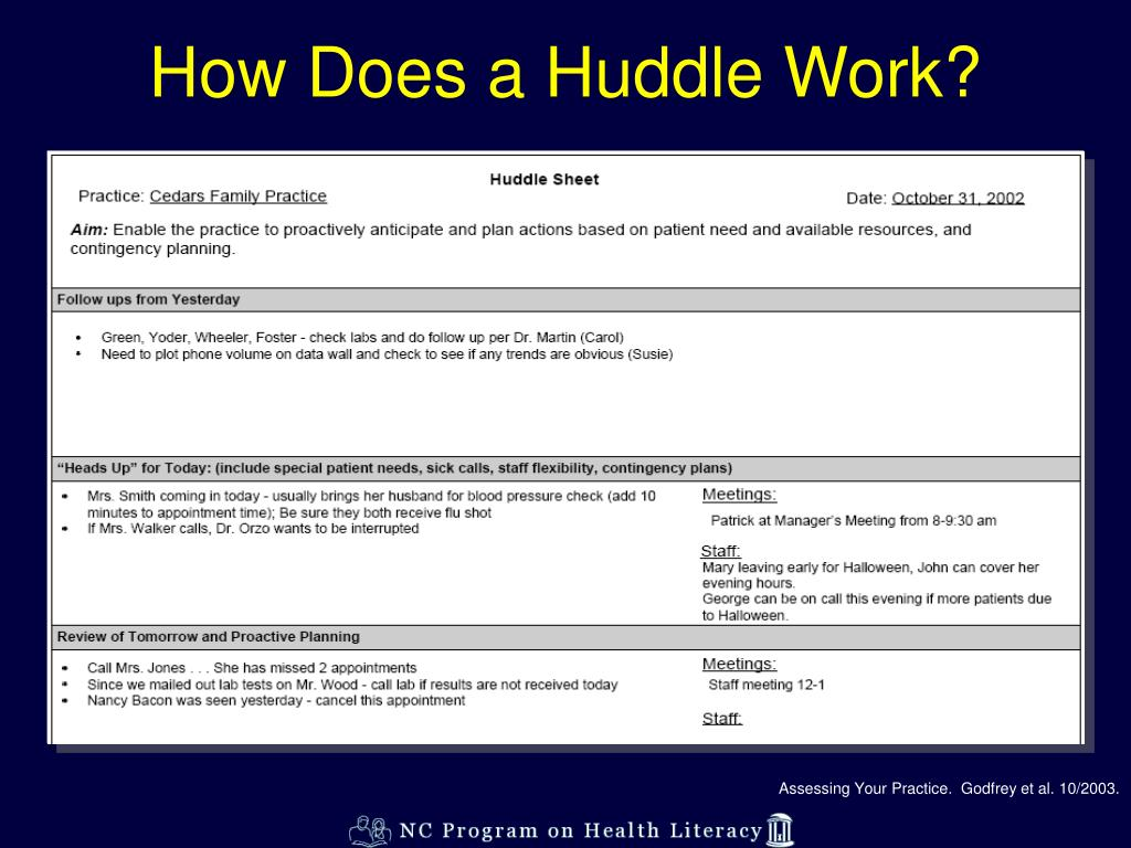 How Does a Huddle Work?