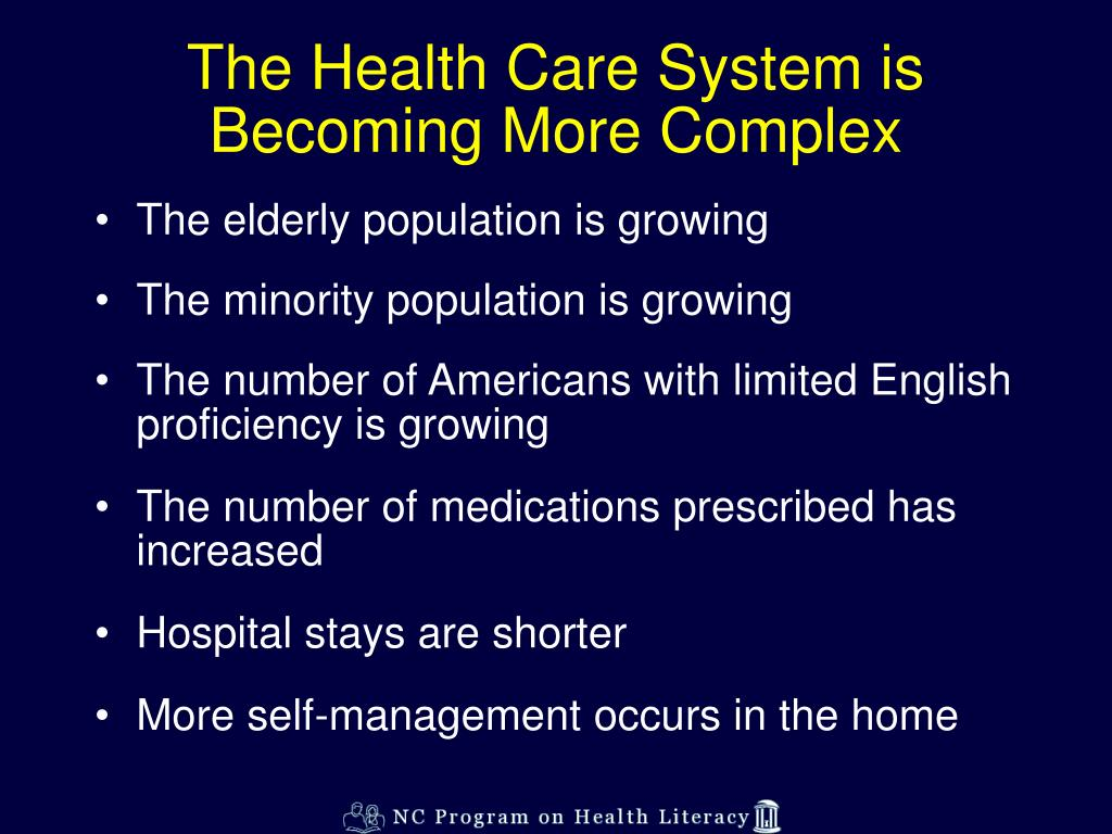 The Health Care System is Becoming More Complex