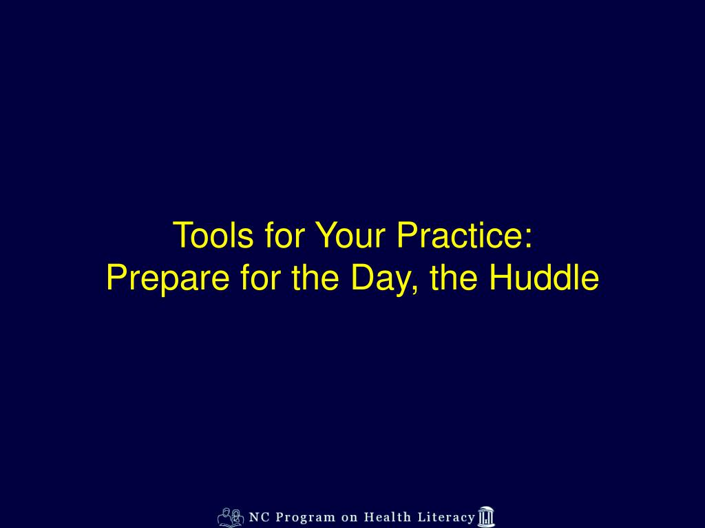 Tools for Your Practice: