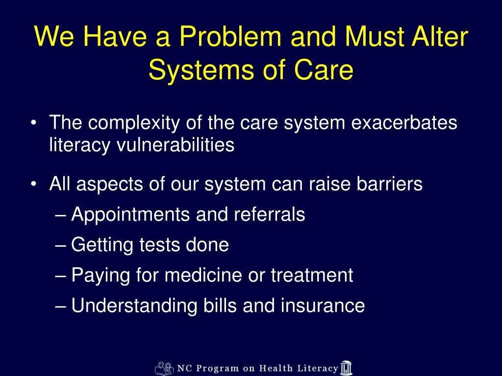 We Have a Problem and Must Alter Systems of Care