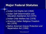 major federal statutes