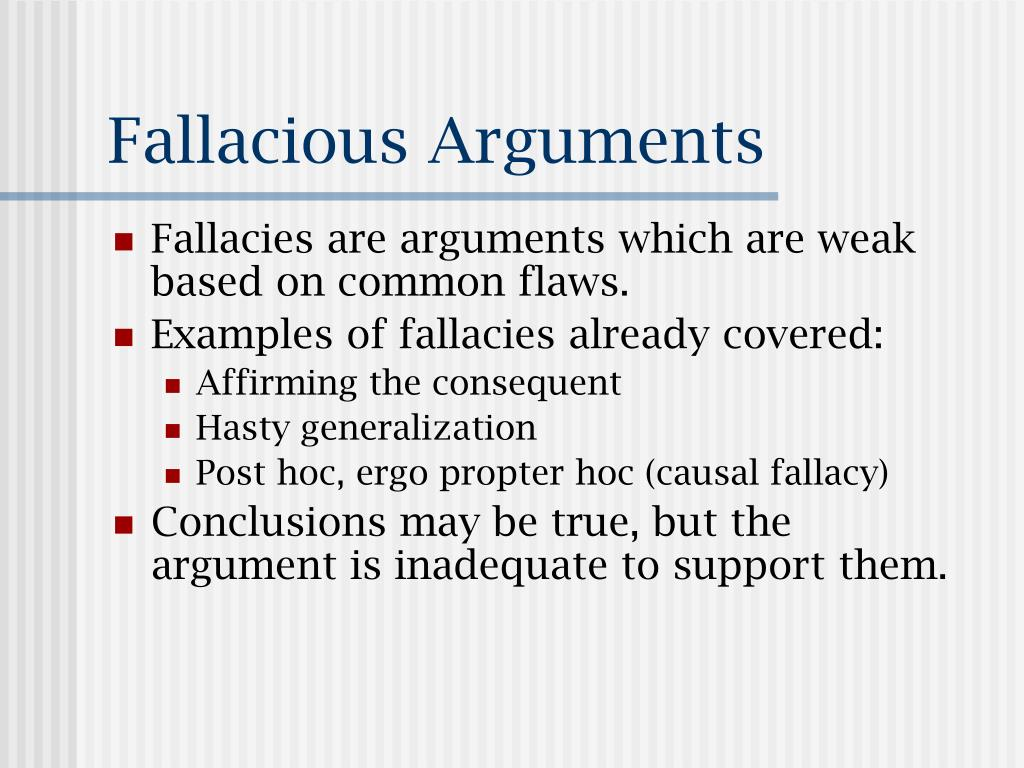 PPT - Fallacious Arguments PowerPoint Presentation, free ...