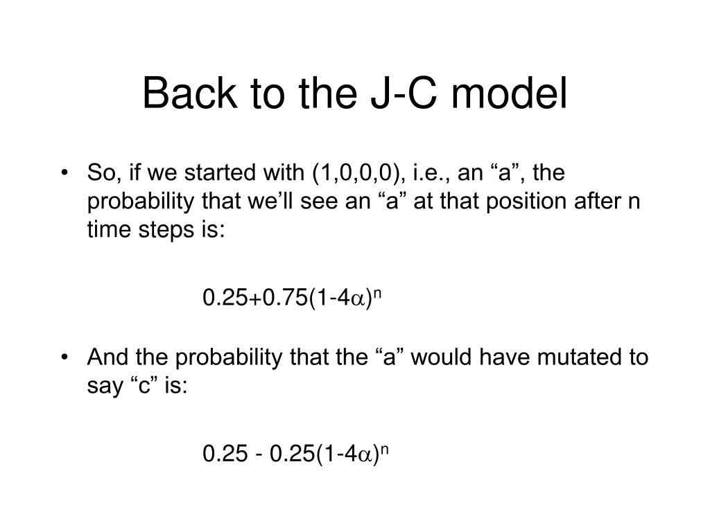 Back to the J-C model