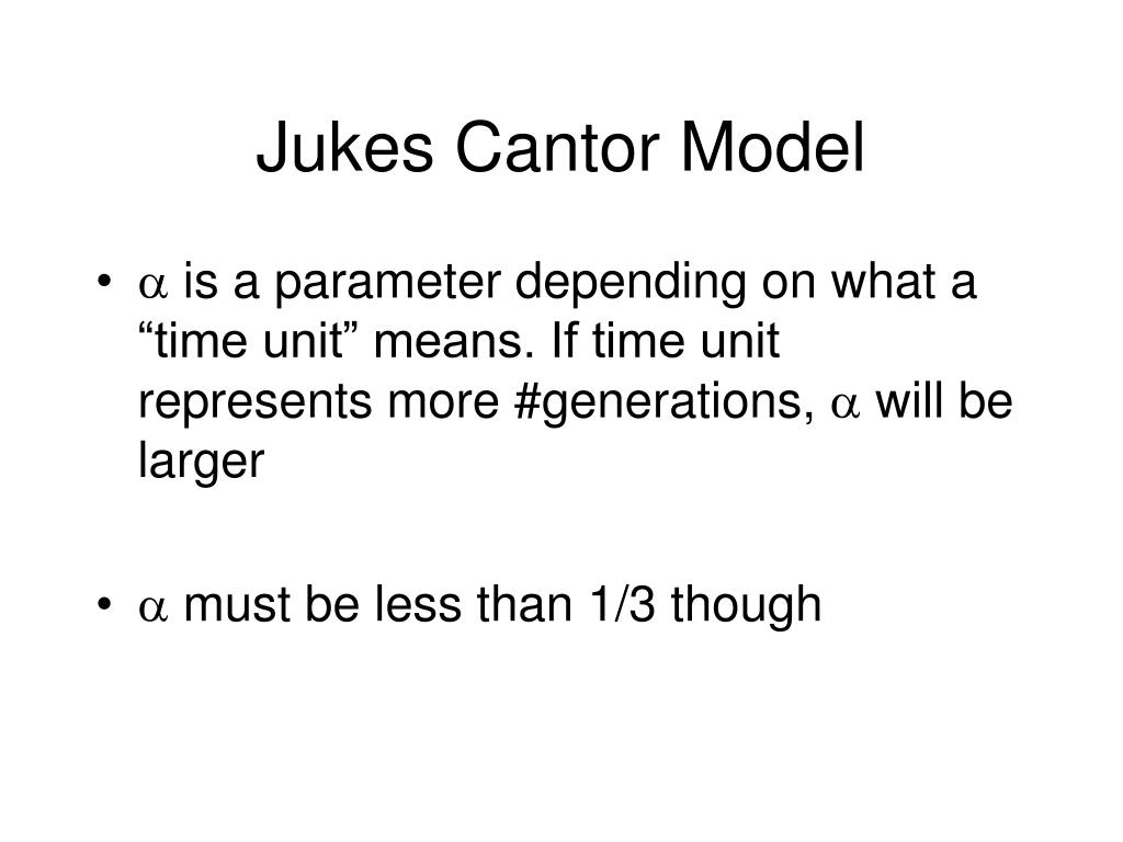 Jukes Cantor Model