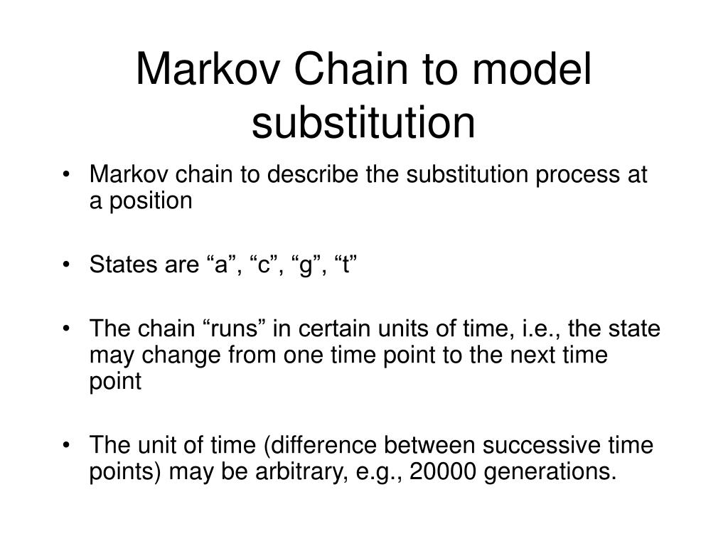 Markov Chain to model substitution