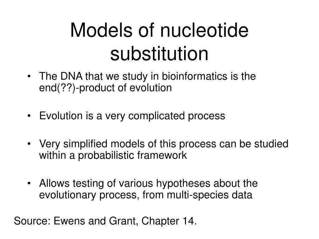 Models of nucleotide substitution