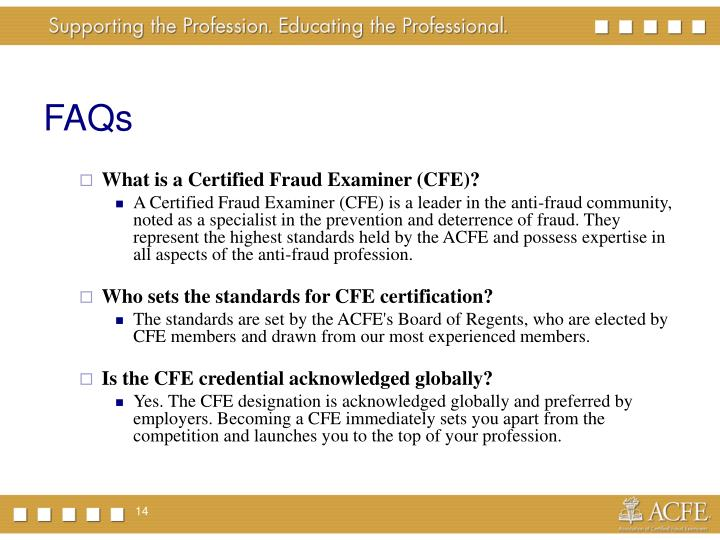 Ppt Achieving The Certified Fraud Examiner Certification
