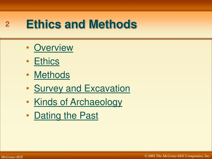 excavations dating methods dating more than one person reddit