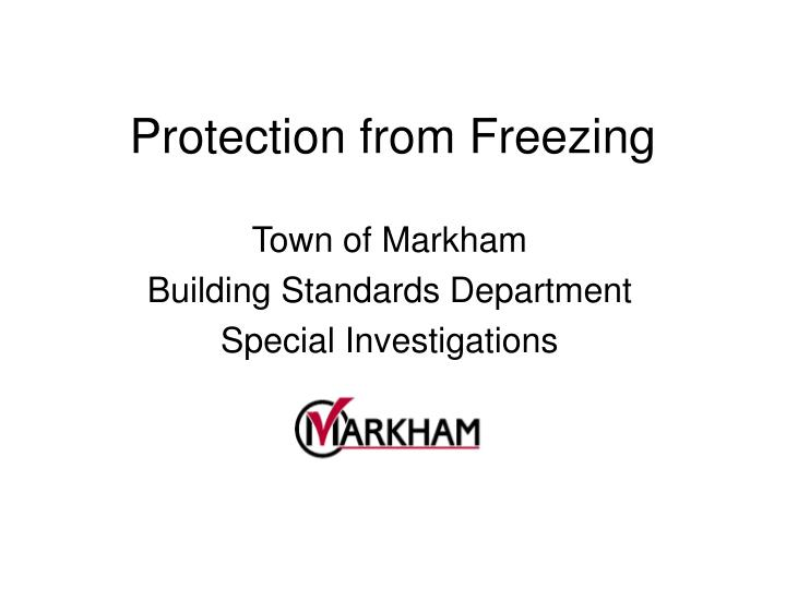 protection from freezing n.